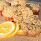 Orange-Walnut Muffins - Use almond milk to replace oil to help get a healthier version of a walnut-studded breakfast muffin flavored with orange juice.