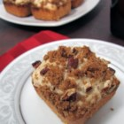 Nutty Coffee Cake - A festive one layer coffeecake with a nutty lemon streusel on top. Beautiful for company