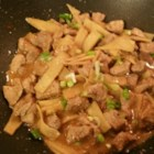 Pork and Bamboo Shoots - This fragrant and spicy bamboo shoot stir-fry is flavored with a bit of pork and savory Asian ingredients.