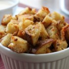 Bluetons (Blue Cheese Croutons) - Three ingredients, bread, butter, and blue cheese, are all it takes to make Chef John's recipe for bluetons (blue cheese croutons).