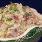 St. Patrick's Colcannon - Here's a great way to use up leftover corned beef from St. Patrick's day or to stretch a little corned beef to feed a crowd. Mashed red potatoes, shredded cabbage, and plenty of butter make it taste oh-so-good.