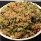Quinoa and Lentil Salad - This light and refreshing salad has carrots, bell pepper, and cucumber is mixed with lentils and quinoa in a citrus dressing sweetened with agave nectar.