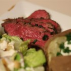 Grilled Tri Tip Roast - Tri tip roast is marinated in a soy sauce-Italian dressing marinade and grilled to perfection.
