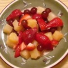 'Something Different' Fruit Salad - The lime, honey, and cayenne pepper dressing really brings out the flavor of the fruits in this easy-to-put-together fruit salad. This is a tasty, fresh, and colorful side dish perfect for any summer meal. The dressing works well with many different fruits, so use your favorites or whatever is in season!