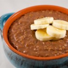 Slow Cooker Chocolate Banana Steel Cut Oats - The slow cooker makes steel-cut oats with bananas and cocoa powder for a simple and tasty breakfast option.