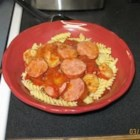 Jambalasta - Try this delicious spin on Jambalaya using pasta instead of rice!