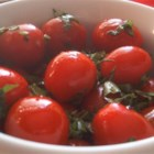 Cherry Tomatoes - These tomatoes are marinated in a delightful blend of balsamic vinegar and herbs. A perfect snack for phase 1 dieters.