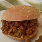 Jeff's Sloppy Joes - Ground beef and sausage are the main ingredients of this spicy sandwich filling. The heat level can be upped even further by adding hot pepper sauce.