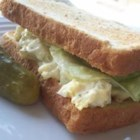 Egg Salad Sandwiches - Mustard powder, dill weed, garlic powder, and onion flakes are combined in this amazing egg salad. I've always had rave reviews of this great sandwich salad.