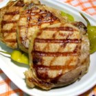 Pork Chops with Dill Pickle Marinade - Marinate center cut pork chops in the pickling liquid of store bought dill pickles - sounds strange, but it's a winner!
