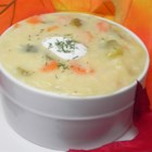 Quick Dill Pickle Soup - Dill pickle soup is a snap to make, taking about 30 minutes, and is tasty and addicting.