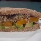 Avocado and Orange Sandwich - A true California flavor explosion! This is great for a vegetarian meal anytime. You may toast the bread if you like, or add lettuce, cheese, or bacon.