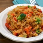 Yellow Rice with Vegetables - Try this recipe for Spanish yellow rice with fresh veggies for a side dish that everyone will love.