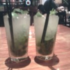 Mojito Cocktail - Muddled mint and rum. Similar to a mint julep, but made with rum instead of bourbon. This cocktail has recently become popular again.