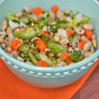 Vegan Tuscan White Beans - This vegan recipe briefly marinates cannellini beans, vegetables, garlic, sage, and parsley in a lemon juice dressing for a simple and refreshing side dish.