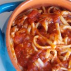 Hot Tomato Sauce - A spicy tomato-based pasta sauce with red chile pepper and onion.
