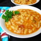 White Chili VI - Chunks of white meat chicken, Great Northern beans, salsa, and Pepper Jack cheese make this a super simple and super quick recipe sure to please everyone! Serve with tortilla chips and sour cream.
