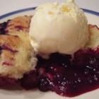 Huckleberry Buckle II - This dessert has a cobbler-type pastry baked below the tangy huckleberry filling.