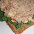Apple-Kraut Tuna Sandwich - Sweet apples and sauerkraut combined to make a uniquely flavored tuna sandwich.  A low calorie, highly filling snack or meal.