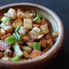 Duck Fat Green Garlic Homefries - Discover true decadence with these delicious homefries fried with green garlic in duck fat.