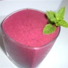 Mindy's Berry Nice Smoothie - Use your favorite frozen berries, along with soy milk, orange juice and wheat germ, to make this quick liquid breakfast.