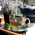 Lavender Mint Tea - This mood-boosting tea is delicious hot or iced. And fresh lavender and mint from the garden make it even more special!
