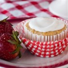 Strawberry Cupcakes with Strawberry Icing - This fruity cupcake is sure to please all taste buds. Made with applesauce instead of oil, you lose calories but not flavor or moisture.