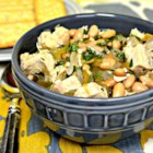 Simple Chicken and White Bean Soup - Try this recipe for a simple chicken and bean soup with a little Mexican-style kick.