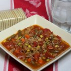 Quick and Easy Vegetable Beef Soup - This vegetable beef soup with tomatoes is quick, easy, and tasty!