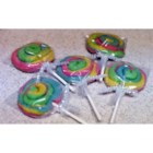 Fun Cookie Suckers - Swirls of color, also known as Play Dough Cookies.