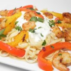 CraZee's Creamy Seafood and Pasta - Easy, quick and creamy. Shrimp and scallops are sauteed and served on a bed of orecchiette pasta with a yummy white wine-cream sauce.
