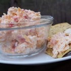 Pimento Cheese Spread With Feta - Pimentos are mixed with Cheddar and feta cheeses in this mayonnaise based sandwich spread which can double as a snack dip.