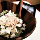 Oregon Fall Salad - Hazelnuts, apples, and sharp Cheddar combine with mixed salad greens and an apple cider vinaigrette to make a hearty Oregon fall salad.