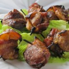 Shrimp Ramakis - Shrimp marinated in teriyaki sauce are wrapped in bacon and broiled until crisp.