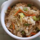House Fried Rice - Loaded with shrimp, ham, chicken, and veggies, just like in your favorite Chinese restaurant. This fried rice is delicious and an excellent use of leftovers!