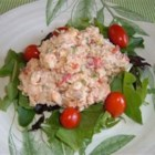 Feta Chicken Salad - A basic chicken salad recipe with red bell peppers and feta cheese. Try using tomato-basil feta for added flavor!