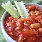 Buffalo Chicken Chili - Chicken chili has the zing of Buffalo wings. Serve at your game day party.