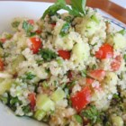 Quinoa Tabbouleh Salad - This recipe for quinoa tabbouleh salad produces a cool and refreshing vegetarian dish that's great for potlucks and picnics.