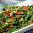 Spanish Green Beans and Tomatoes - A simple, tasty traditional Spanish side dish of fresh green beans with tomatoes and lightly seasoned with chives, lemon, and bay.