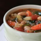 Tuscan Bean Soup (Ribollita)  - Tuscan bean soup is similar to minestrone but includes cannellini beans instead of pasta. Serve over a bed of sauteed spinach.