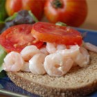 Doris's Shrimp Salad - Shrimp Salad, refreshing and light, served in a hollowed out summer  tomato. Served as an appetizer, salad, or a light brunch. This was one of our favorite Sunday afternoon treats that my mother fixed for our family.