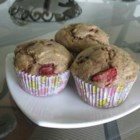 Mimi's Giant Whole-Wheat Banana-Strawberry Muffins - A healthier version of a favorite breakfast treat! Bananas and strawberries lend a natural sweetness to these delicious and moist muffins.