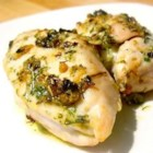 Broiled Herb Butter Chicken - Chicken breasts broiled with an herb butter seasoned with garlic, parsley, rosemary and thyme. Comes out nice and juicy!