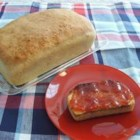 English Muffin Bread - This recipe will make 2 loaves of chewy English muffin bread. It's leavened with yeast and baking soda.