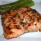 Grilled Salmon II - Salmon fillets are marinated in an Asian inspired sweet and spicy marinade before grilling.