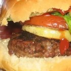 Sweet Onion Burgers - Nothing better than burgers and onions, only these burgers have the chopped onions tucked inside. To make them even more decadent, serve on an onion roll.