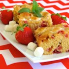 Strawberry-Marshmallow Blondies - These blondies have strawberries and marshmallows throughout for a delightfully fruity and sweet brownie alternative.