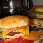 Hamburgers by Eddie - A simple way to spruce up your burgers. Cook out on the grill, or just fry in a pan indoors. Serve on buns with lettuce, tomato, ketchup, mustard and onions.