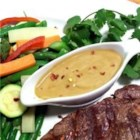 The Best Thai Peanut Sauce - This easy no-cook peanut sauce has a terrific authentic Thai taste. It is spicy and peanutty, and is perfect as a dipping sauce for chicken, shrimp, and beef...or even to use tossed with warm cooked noodles for a quick pasta dish.