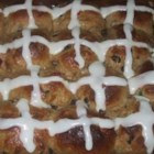 Hot Cross Buns II - This heartier version of the Easter classic includes whole wheat flour and honey, and replaces cinnamon with nutmeg.  Candied citrus peel is a delightful addition.